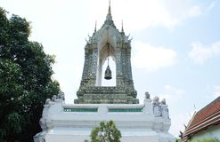 Bell tower at The Emerald Buddha Temple in Bangkok, Asia Royalty Free Stock Images