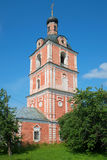 The bell tower of the Epiphany Church of the Assumption Goritsky monastery. The Golden ring of Russia Royalty Free Stock Photography