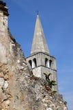 Bell Tower of Euphrasian Basilica in Porec, Croatia Stock Photography