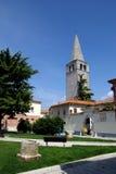 Bell Tower of Euphrasian Basilica in Porec, Croatia Royalty Free Stock Images
