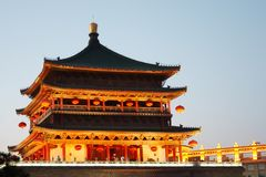 Bell Tower in the evening. Xi'an, China Royalty Free Stock Photography