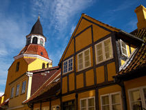 Bell tower in Faaborg Funen Denmark Royalty Free Stock Photography