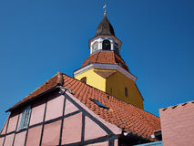 Bell tower in Faaborg Funen Denmark Stock Image