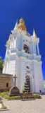Bell Tower Far Caves of  Holy Assumption Pechrsk Lavra Cathedral in Kyiv, Ukraine Royalty Free Stock Photos