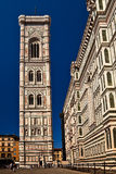 Bell tower, Florence. The bell tower, cathedral Florence Stock Photos