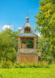 Bell tower in the forest Royalty Free Stock Photos