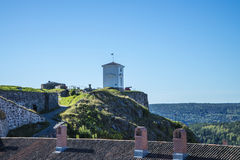 The bell tower at fredriksten fortress, angle 1 Stock Photos