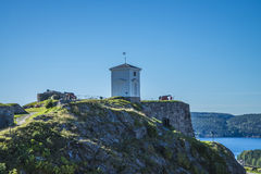 The bell tower at fredriksten fortress, angle 2 Royalty Free Stock Photos