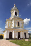 The bell tower with the gate Church of the Three Hierarchs of the Vysotsky monastery, Serpukhov, Moscow region Stock Images