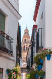 Bell tower of The Great Mosque in spanish Cordoba Stock Image
