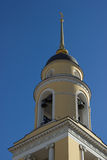 Bell tower of the Greater Church of the Ascension, Moscow Royalty Free Stock Photo
