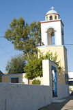 Bell tower of Greek Orthodox church Stock Images