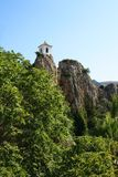 Bell Tower in Guadalest Stock Photo