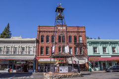 Bell tower in the historic center of Placerville Royalty Free Stock Photos