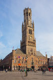 Bell Tower in the historical centre of Bruges, Belgium Stock Photos