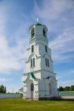 Bell tower of Holy Trinity Alexander Svirsky Monastery north Rus Stock Photo