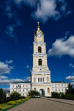 Bell tower of the Holy Trinity St. Seraphim-Diveevo convent. Bell tower of the Holy Trinity St. Seraphim-Diveevo monastery main entrance Royalty Free Stock Images