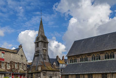 Bell tower, Honfleur Royalty Free Stock Photos