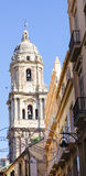 Bell Tower of Iconic Malaga Cathedral Stock Photo