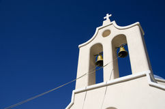 Bell tower on the island of Santorini in Greece Royalty Free Stock Photos