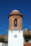 Bell tower, Jimena de la Frontera, Spain. Stock Photography