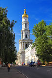 The bell tower in Kharkiv. The bell tower of the Assumption Cathedral in Kharkiv, Ukraine Royalty Free Stock Image