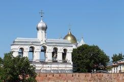 Bell tower in Kremlin. Bell Tower in the Kremlin in Novgorod Stock Photography