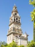 Bell tower of La Mezquita in Cordoba Stock Image