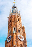 Bell tower in Landshut Royalty Free Stock Photo