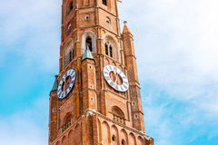 Bell tower in Landshut Stock Images