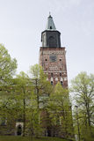 The Bell Tower of The Main Cathedral in Finland Stock Image