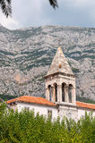 Bell tower in Makarska Royalty Free Stock Photos
