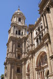 Bell tower, Malaga Cathedral, Andalusia, Spain Royalty Free Stock Image