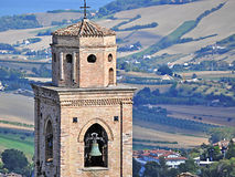 Bell tower in Marche Stock Images