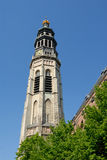 Bell tower of the medieval Cathedral. In Middelburg, the Netherlands Royalty Free Stock Photo
