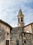 Bell tower of the medieval sanctuary of St. Mery of Stock Photo
