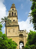 The bell tower of Mezquita - Córdoba. The bell tower of Mezquita, the mosque of Cordoba, Spain Stock Photo