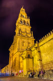 Bell tower of Mezquita Cathedral in Cordoba, Spain Stock Photography