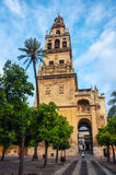 Bell Tower of the Mezquita Cathedral in Cordoba Royalty Free Stock Photography