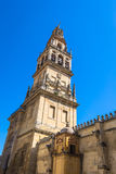 The bell tower at the Mezquita mosque & cathedral in Cordoba, Sp Royalty Free Stock Images