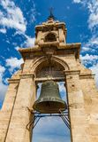 The bell tower of Miguelete in Valencia is an ancient structure, operating today not only as a belfry, but also as a viewing royalty free stock images