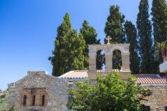 Bell tower of monastery Kera Kardiotissa. Crete Stock Photos