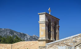Bell tower of monastery Kera Kardiotissa in the mountains of Cre Stock Image