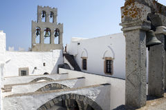 Bell tower at Monastery Patmos Stock Photography