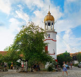 Bell tower of the monastery Stock Image