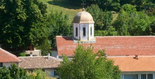 The bell tower of the monastery of St. Nicholas Stock Images