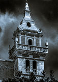 The bell tower of the monastery in Valldemossa. Mallorca Spain Stock Images