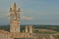 Bell & Tower of Monteriggioni Royalty Free Stock Image