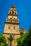 Bell tower  of the Mosque-Cathedral, the Mezquita in Cordoba, An Royalty Free Stock Photo