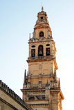 Bell tower of the Mosque of Cordoba. Building has been declared a World Heritage Site along with the historic center of Cordoba was begun in 785 on the site of royalty free stock photo